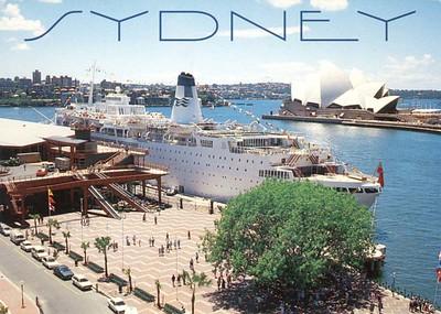 SEA PRINCESS Circular Quay Sydney from 1994