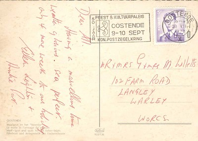 PRINSES PAOLA Ostend card from 1972-001