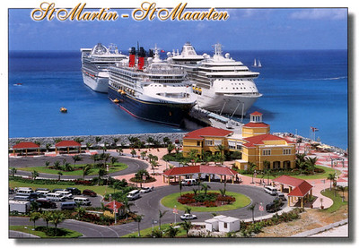 Caribbean Islands With Ships