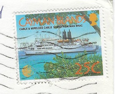 SIR ERIC SHARP Cable & Wireless Ship Cayman Brac Stamp 1999
