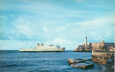 ss CITY OF HAVANA entering Havana Harbour