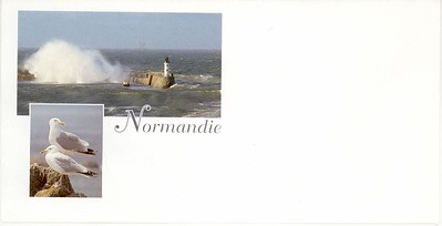 Normandie Envelope for QM2 Card Cherbourg