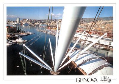 View Ferries from Il Bigo Lift Genova