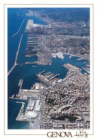 Aerial View Port of Genova
