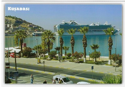 RUBY or CROWN or EMERALD PRINCESS RCI behind Kusadasi