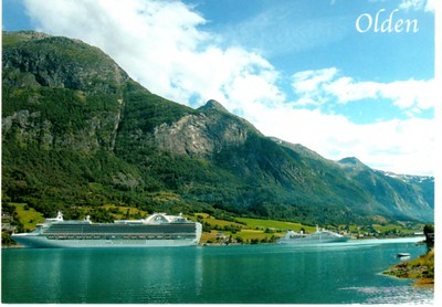Princess & Seabourn Vessels Olden Norway from 2012
