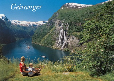 Name Ships Seven Sisters Waterfall Geirangerfjord Norway