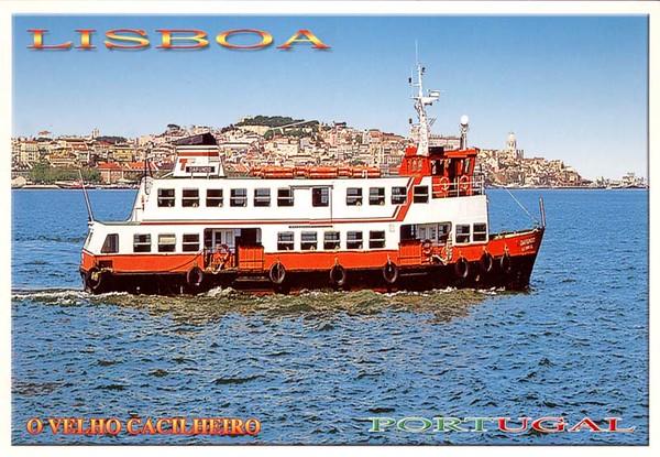 DAFUNDO Old Ferry Boat Tagus River Lisboa