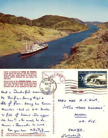 Name Ship Gaillard Cut Panama Canal from Nov 1965-002