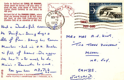 Name Ship Gaillard Cut Panama Canal from Nov 1965-001