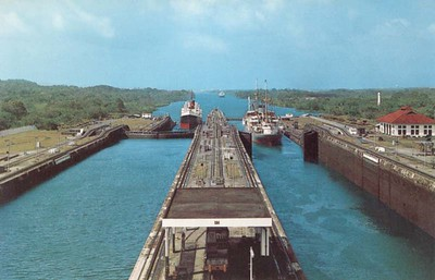 Gatun Locks View from Control Tower Panama Canal