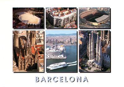 CATALONIA L Buquebus before Eurostars Grand Marina hotel Barcelona