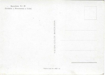 Carabela y Monumento a Colon Barcelona unwritten-001