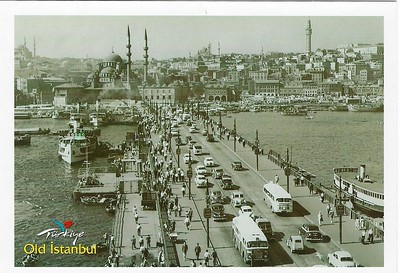 Old Istanbul Galata Bridge Ferries