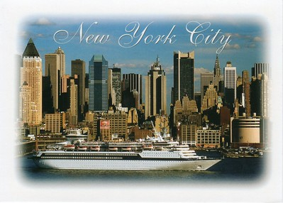 SONG OF AMERICA now CELESTYAL OLYMPIA New York card from 2013