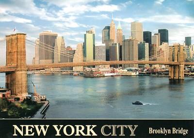 Brooklyn Bridge South Street Seaport New York