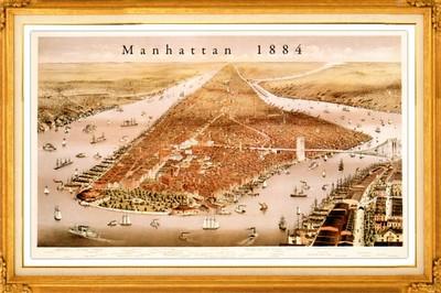 Shipping Manhatten 1884 New York