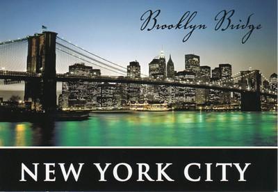 Brooklyn Bridge Night New York-001