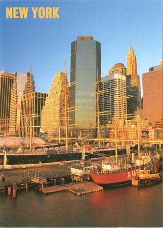 PEAKING AMBROSE Lightship South Street Seaport New York