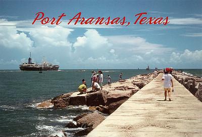Cargo Ship Port Aransas Texas