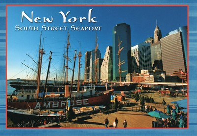 PEAKING AMBROSE Lightship South Street Seaport New York from 2013