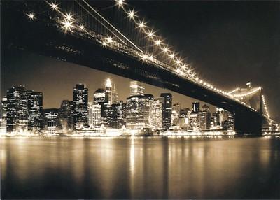 Brooklyn Bridge Night New York