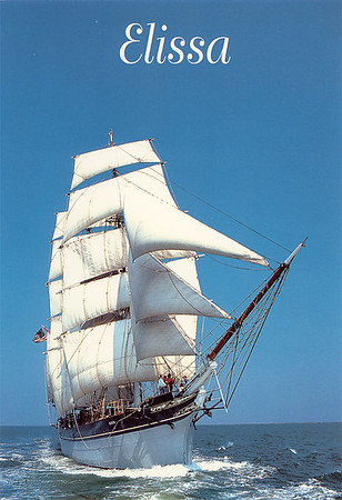 ELISSA is a three-masted, iron-hulled sailing ship built in 1877 in Aberdeen, Scotland by Alexander Hall & Company. Now at the Texas Seaport Museum