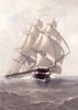 Marshall Johnson [1850-1921] Oil on canvas late C19 from collection of the USS Constitution Museum