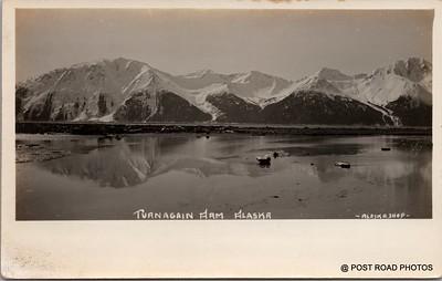 Postcard US Alaska RPPC Government Railway circa 1920 obverse caption  (1)