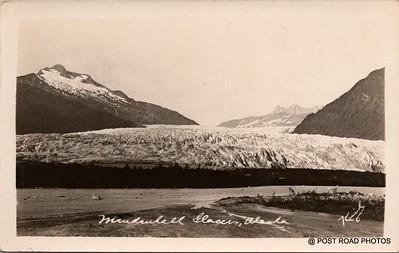 Postcard US Alaska RPPC Government Railway circa 1920 obverse caption  (24)