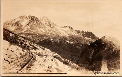 Postcard US Alaska RPPC Government Railway circa 1920 obverse caption  (12)