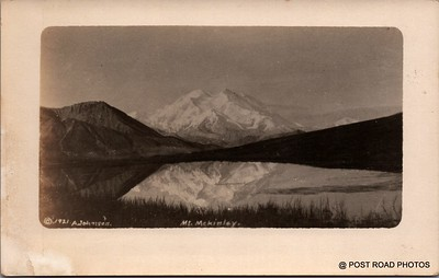 Postcard US Alaska RPPC Government Railway circa 1920 obverse caption  (19)
