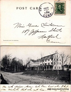 postcard connecticut scan epson branford montowese house indian neck branford undivided back cancel date is 11 aug 1906  (10)