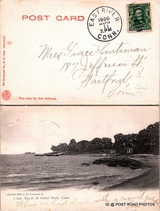 postcard connecticut scan epson branford undivided back cancelled east river date is 1906  (9)
