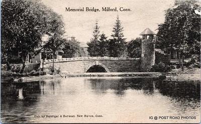 Postcard-USA-milford-connecticut-ellie-russo-benefico+scan FF680W downtown memorial bridge danzeger uncancelled -002