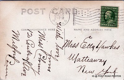 Postcard-USA-milford-connecticut-ellie-russo-benefico+scan FF680W concrete bridge hyatt duck pond -001 15 JUL 1910