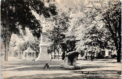 Postcard-USA-milford-connecticut-ellie-russo-benefico+scan FF680W downtown civil war monument 002