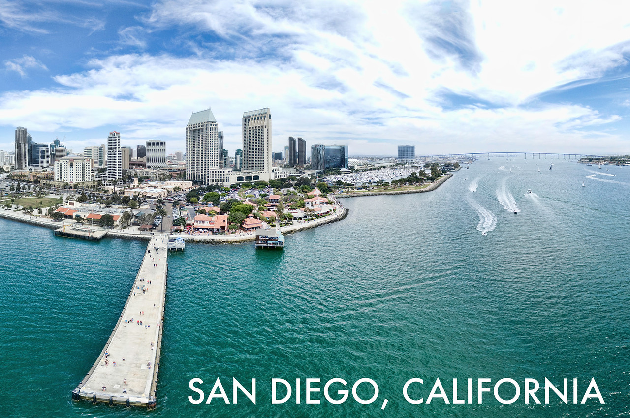 """""""San Diego waterfront"""" - SKU SANDIEGO1"""