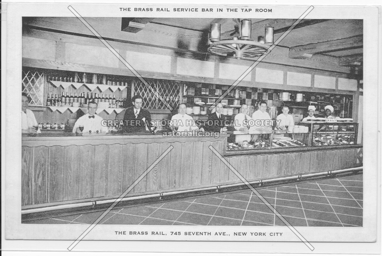 The Brass Rail Service Bar In The Tap Room, The Brass Rail 745 Seventh Ave., New York City