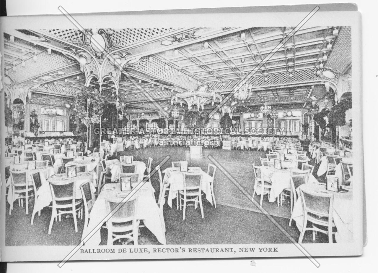 Ballroom De Luxe, Rector's Restaurant, New York