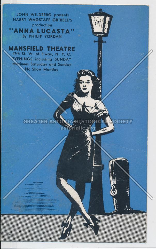 """Anna Lucasta"" by Philip Yordan, Mansfield Theatre"