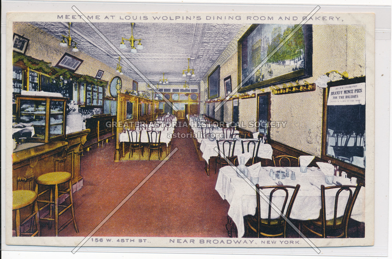 Meet Me At Louis Wolpin's Dining Room And Bakery, Near Broadway, New York