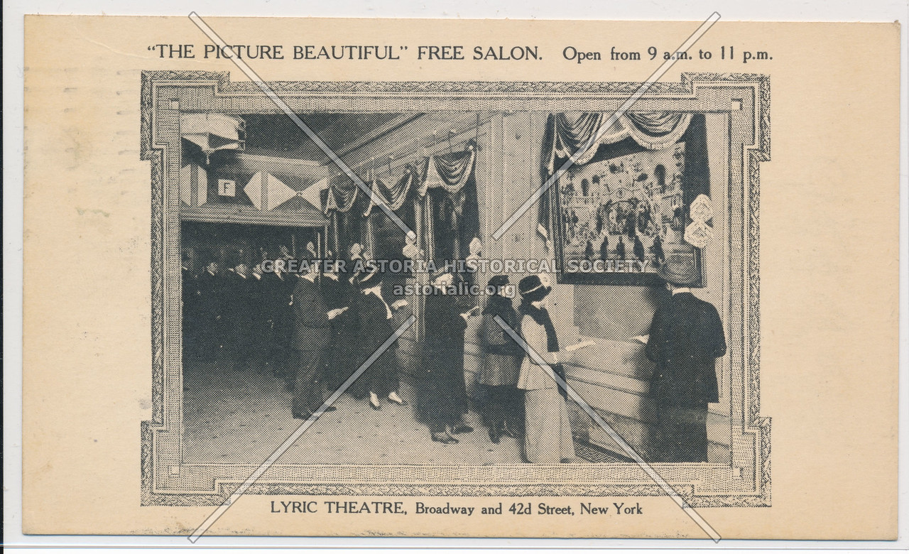 """The Picture Beautiful"" Free Salon, Lyric Theatre, Broadway and 42nd Street, New York"