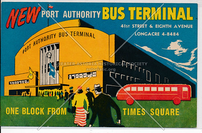 New Port Authority Bus Terminal, 41st Street & Eighth Avenue, Longacre 4-8484