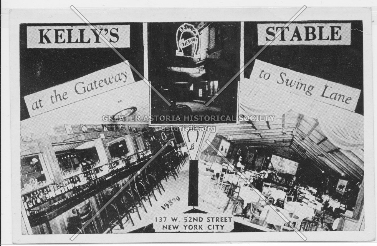 Kelly's Stable at the Gateway to Swing Lane, 137 W. 52nd Street, New York City