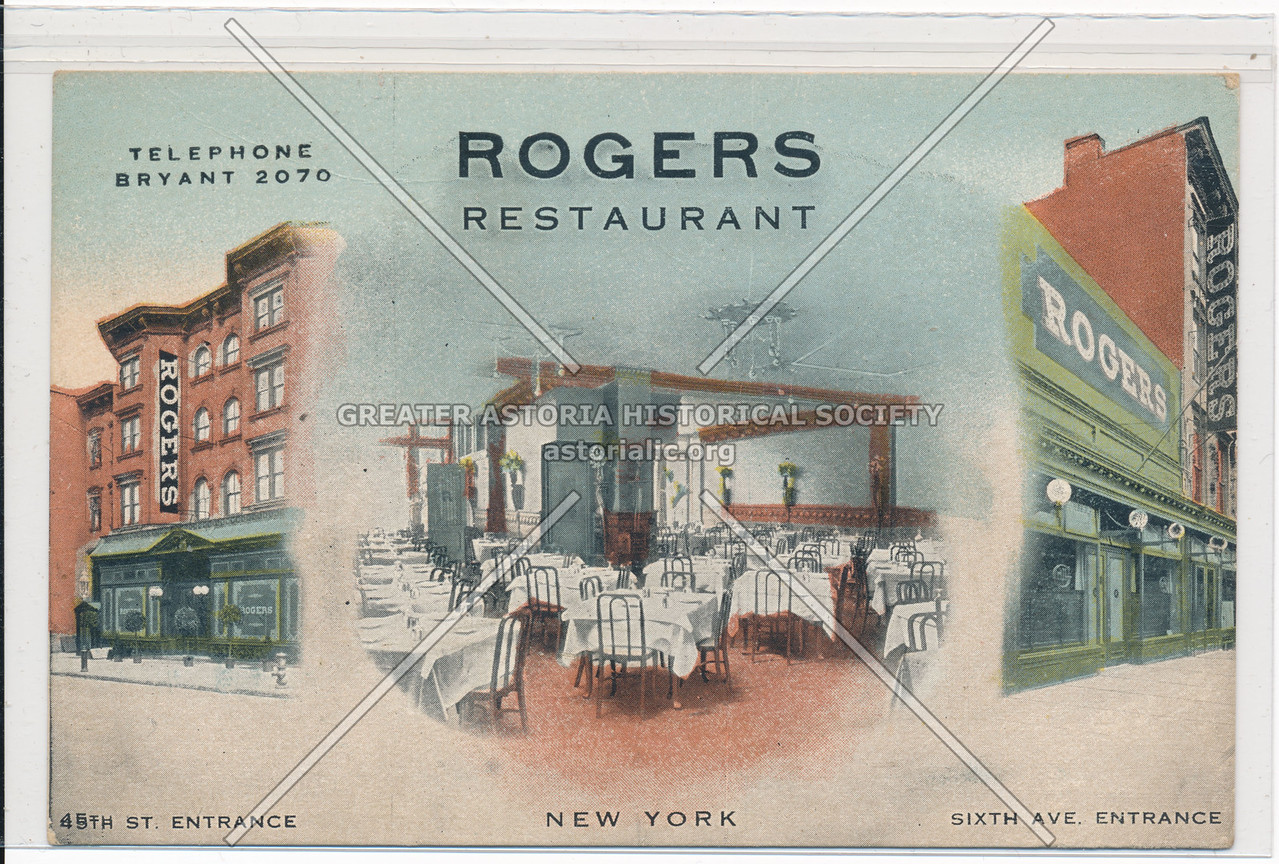 Rogers Restaurant, 45th St. Entrance, New York