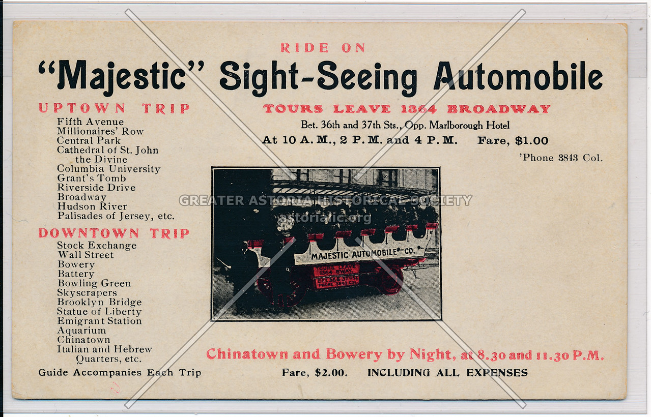 """Ride On """"Majestic"""" Sight-Seeing Automobile"""