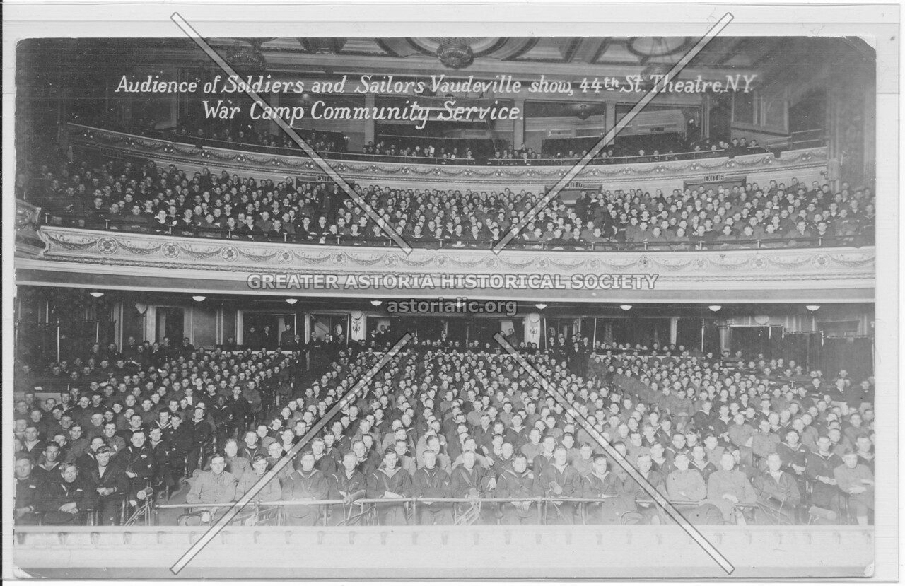 Audience of Soldiers and Sailors Vaudeville show, 44th St., Theatre, N.Y. War Camp Community Service
