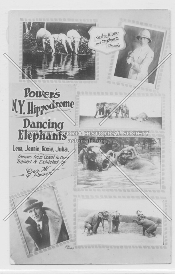 Power's N.Y. Hippodrome Dancing Elephants
