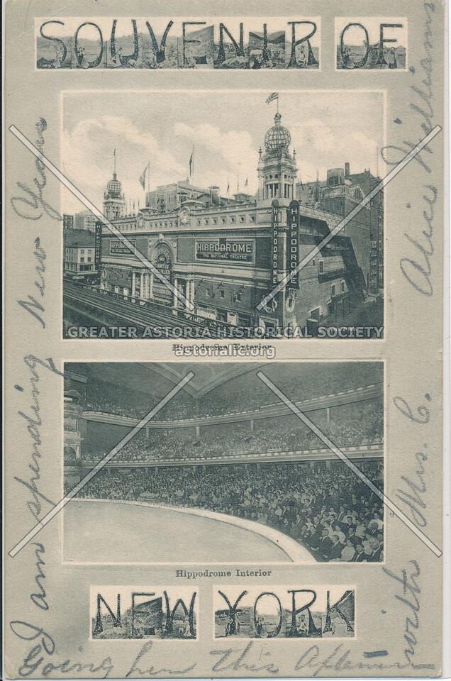 Souvenir Of New York, Hippodrome, interior / exterior